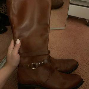 Etienne Aigner brown leather riding boots Sz 8